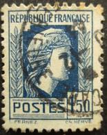 FRANCE Marianne D'Ager N°639 Oblitéré - 1944 Coq Et Marianne D'Alger