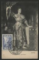 """N° 768 JEANNE D'ARC Sur CARTE MAXIMUM + Cachet Illustré """"V° SALON PHILATELIQUE D'AUTOMNE PARIS 12/11/51"""" - 1940-49"""