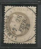 SOLDES - 1866 - N°27 B (type II) - 4 C.- Oblitéré - Belle Oblitération Centrale - 1863-1870 Napoleone III Con Gli Allori