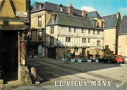 72 - Le Mans - Le Vieux Mans : à Gauche, La Maison Du Pilier Rouge Et à Droite La Maison Du Pilier Vert - Automobiles - - Le Mans