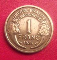 France. 1 Francs 1935. Morlon. Rare - H. 1 Franc