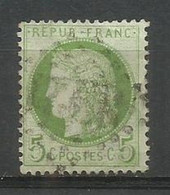 SOLDES - 1872 – N°53 Oblitéré - 5 C.- Vert-jaune - CERES DENTELE - Voir Image - 1871-1875 Ceres