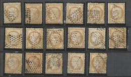 SOLDES - 1873 – 17 Exemplaires N°55 Oblitéré - 15 C.- Bistre - CERES DENTELE - Pour études - 1871-1875 Ceres