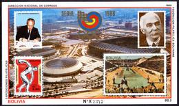 Bolivia 1988 Summer Olympics Souvenir Sheet Unmounted Mint. - Bolivia