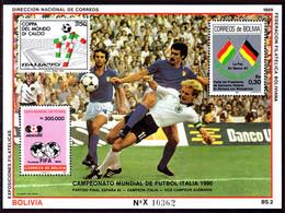 Bolivia 1989 World Cup Football Souvenir Sheet Unmounted Mint. - Bolivia