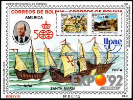Bolivia 1990 America Souvenir Sheet Unmounted Mint. - Bolivia
