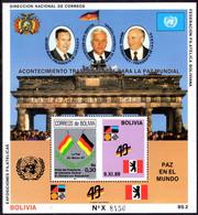 Bolivia 1990 Berlin Wall Souvenir Sheet Unmounted Mint. - Bolivia