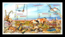 Mongolia 2001 Mih. 3370/79 Fauna. Rare Animals Of Steppe Zones Of Mongolia MNH ** - Mongolia