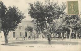 """CPA FRANCE 13 """" Berre, La Gendarmerie Et Le Cours"""" - Otros Municipios"""