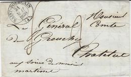 1838-lettre De St-Pourçain ( Allier ) Cad T13  Taxe 2 Barrée Puis Taxe 8 - 1801-1848: Voorlopers XIX