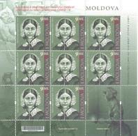 2020. Moldova, Personalities, Medicine COVID-19, Florence Nightingate, Sheetlet,  Mint/** - Moldawien (Moldau)