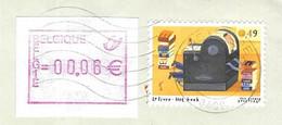 BELGIQUE -  LETTRE ENTIERE, VIGNETTE, TIMBRE LIVRE IMPRIMERIE SIGNEE TOM SCHAMP 2003  -  VOIR LES SCANNERS - Cartas