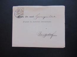 Schweiz 1896 Nr. 50 EF Drucksache Einladung Zur LI. Versammlung Des ärztlichen Centralvereins Im Bernoullianum In Basel - Covers & Documents