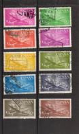 Espagne: Année 1955-56 :  PA N°267 à 276 Oblitérés - Oblitérés