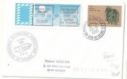 Vignette D'affranchissement De Guichet - Mog - Puteaux Pal Ann CNIT - YT 2371 Vaccin Contre La Rage - Pasteur - 1985 Papier «Carrier»
