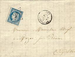 1872- Lettre D'ESQUIROLLES ' Allier ) Cad T6 Affr. P C Du G C 1413 - 1849-1876: Classic Period