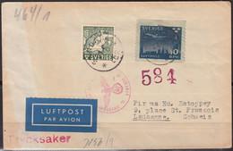 Enveloppe + Courrier De SOSDALA En POSTE AERIENNE Postée Le 27 6 1944 Pour LAUSANNE Suisse Avec CENSURE Allemande - Briefe U. Dokumente
