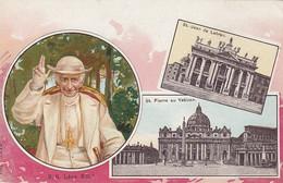 ROMA-PAPA LEONE XIII E SAN PIETRO-3 VEDUTE-CARTOLINA NON VIAGGIATA 1900-1904 - San Pietro