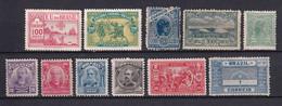 BRESIL - 1900/1918 - YVERT N°112+113+118+129+131/133+143+147+149+154B * MH - COTE = 79 EUR. - Unused Stamps