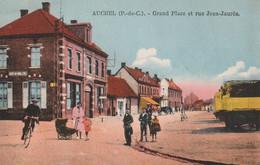 Auchel (P.-de- C.)  Grand Place Et Rue Jean Jaurès - Altri Comuni