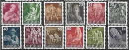 1951 Liechtenstein Mint Never Hinged ** 180 Euros - Unused Stamps