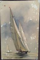 Cpa, Illustrateur, Signée HAFFNER - Yachts De La Grande Classe - Coll De La Ligue Maritime Et Coloniale - Haffner