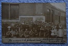 CPA Photo 1910 - Liège Coronmeuse / Ouvriers De La Fabrique D'armes Et Automobiles L. Nagant - Liège
