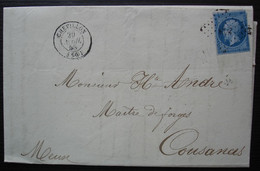 Chevillon Haute Marne 1858 Pc 848 Hauts Fourneaux Du Val D'Osne Barbezat Ancienne Maison André, Pour Cousances - 1849-1876: Klassik