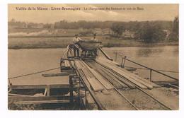 CPA Publicitaire : Vallée De La Meuse NAMUR - LIVES Brumagne, Le Chargement Des Bateaux En Vue De BEEZ - Namur