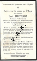 MILITAIRE- Louis STENTELAIRE , Soldat Au 6° Territorial , +à Frutigen ( Suisse) Le 29 /12/1916 à 40 Ans ,Imp. à Estaires - Obituary Notices
