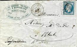 1867- Lettre De St GERAND- LE-PUY  ( Allier ) Cad T15  Affr. N°22 Oblit. G C 3630 - 1849-1876: Classic Period