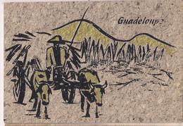 """Carte Postale En 100% Papier Banane - """"char à Boeufs"""" - Transport De La Canne à Sucre - Guadeloupe - - Rhum"""