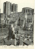 Cpa 60 Noyon , Ww1 , La Cathédrale à Travers Ses Ruines , Vierge - Noyon