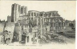 Cpa 60 Noyon , Ww1 , L'hôtel De Ville Et La Fontaine , Vierge - Noyon