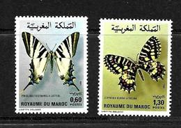 MAROC 1981 PAPILLONS YVERT N°894/95 NEUF MH* - Papillons