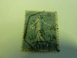 SEMEUSE LIGNEE - 50c - Bleu - Oblitérée - Année 1924 - - 1903-60 Semeuse A Righe