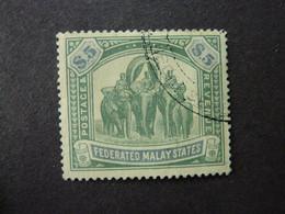 ETATS MALAIS FEDERES, Année 1905-11, YT N° 37 Oblitéré (cote 185 EUR) - Federated Malay States