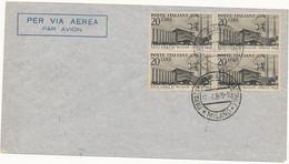 1949 27A FIERA MILANO FDC CON QUARTINA ANNULLO FIERA - 1946-60: Poststempel