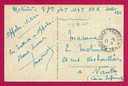 Correspondance Sur Carte Postale Datée De 1922 - Oblitération Trésor Et Postes 184 - 7ème Bataillon De Chasseurs Alpins - Marcofilia - EMA ( Maquina De Huellas A Franquear)