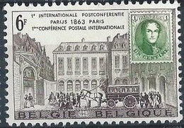 Z0356 - BELGIE - BELGIUM - 1963 - Nr 1250 - INTERNAT. POSTCONFERENTIE - THEMA POST - Unused Stamps