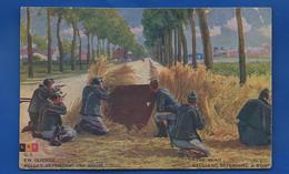 Soldats  Belge Défendant Une Route - War 1914-18