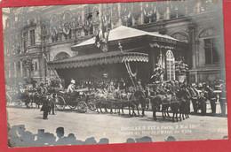 Visite Du Roi Edouard VII à Paris 1903 (King Edward VII) Départ Du Roi De L'Hôtel De Ville - Royal Families