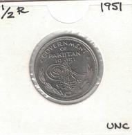 Pakistan 1/2 Half Rupee 1951 UNC - Pakistan