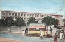 Tunisie Tunis La Kasbah Tram Tramway Ligne 74 Porte De France - Kasbah , Cpa Colorisée - Tunisia