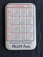 Calendrier Miroir 1930  Publicitaire Chaussures Françaises PILLOT Paris - Advertising