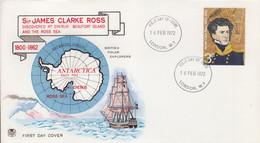 BAT, FDC (Sir James Clarke Ross) Obl. London W.1 Le 16 FEB 72 Sur TP N° 653 - 1971-80 Ediciones Decimal