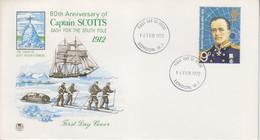 BAT, FDC (Captain Scotts) Obl. London W.1 Le 16 FEB 72 Sur TP N° 656 - 1971-80 Ediciones Decimal