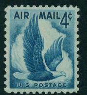 USA Scott # C48    1954   Eagle In Flight 4c  Airmail -  Mint Never Hinged (MNH) - 2b. 1941-1960 Nuevos