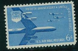 USA Scott # C49    1957 Air Force 6c   Airmail -  Mint Never Hinged (MNH) - 2b. 1941-1960 Nuevos