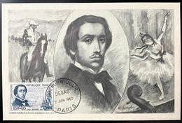 Carte Maximum De Degas Du 11/06/1960 - 1960-69